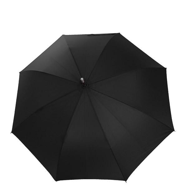Damenschirm Rundhaken in schwarz