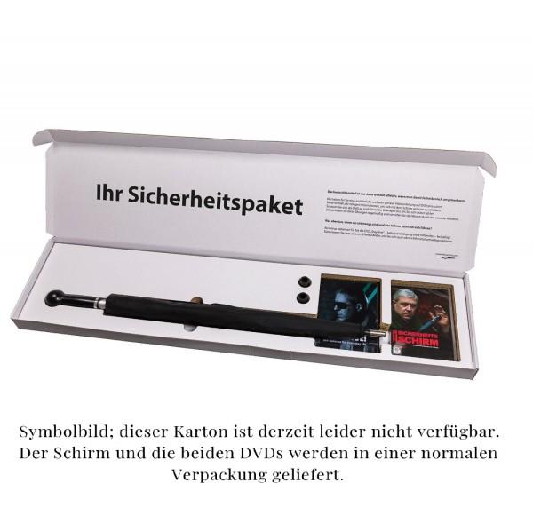 """Sicherheitspaket 3: Herrenschirm """"City-Safe"""" Knaufgriff inklusive zwei Videokurse auf DVD"""